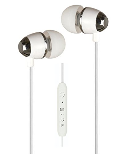 Exclusive Deals, Great Indian Sale, Golden Hour Deals, BassHeads XUV U-7 Perfect in-ear seal blocks out external noise In-Ear Metal Headset with Mic For all iPod, iPhone, iPad, Android device, mp3 player, CD player, portable DVD player, PSP, MD, radio or laptop computer - Silver