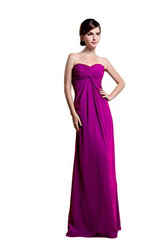 Bridal_Mall - Robe - Sans Manche - Femme Rouge - Prune