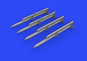 Eduard EDB672220 1:72-AIM-120A/B AMRAAM Kit de Modelo de latón, Varios