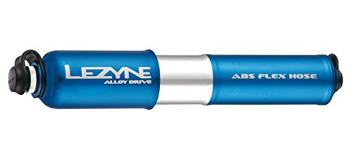 Lezyne Minipumpe CNC Alloy Drive, blau-glänzend, 1-MP-ALLDR-V2M10