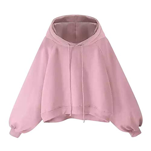 b2af9f79c9479 Clearance KEERADS Women Pullover Hoodie Sweatshirt Winter Coat Jacket  Outwear Plus Size(Pink