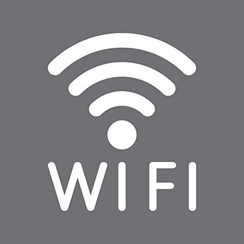 - Logo-symbol (Aufkleber Tattoo WIFI 30cm weiß WLAN Hotspot kostenlos Internet Zugang Zeichen Symbol Logo)
