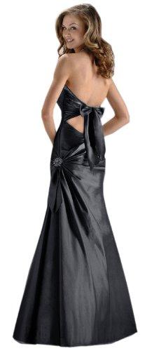 Robe de Soir¨¦e Superbe Halter-cou robe de bal en violet, noir, rouge, bleu fonc¨¦ et argent couleurs ED8901 Noir