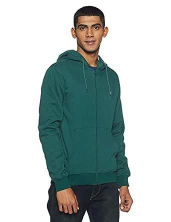 Allen Solly Men's Sweatshirt (ASSTORGPW59795S_Pine Green 19-5414TCX)