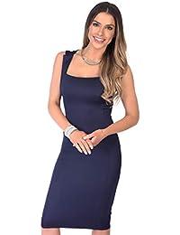 c8b0190af6b Amazon.fr   robe fourreau bleu marine - Robes   Femme   Vêtements