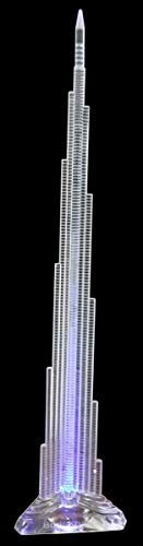Burj Khalifa Tallest Tower Crystal 3D Laser Lights Souvenir Gift