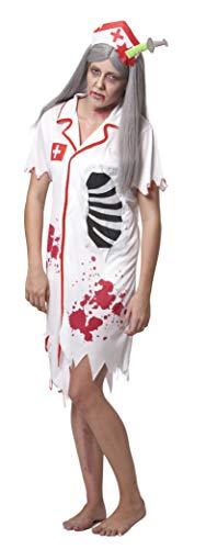 SYMTOP Halloween Kostüm Damen Blutig Verkleidung Cosplay Zombie Krankenschwester Nurse Scrub Outfit Horror ()
