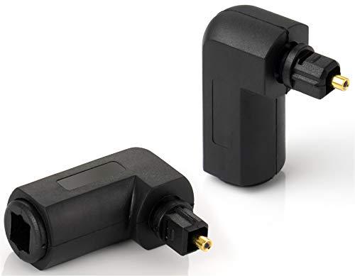 S-video-tos-video (Poppstar 2X Toslink Adapter 90° gewinkelt (Toslink Buchse auf Stecker), Winkelstecker für Toslink Optisches Digital-Audiokabel (TOS Kabel), S/PDIF Kabel)