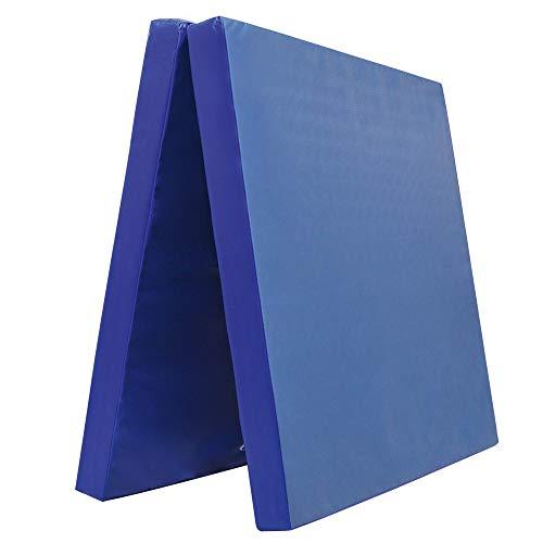 Klappbare Turnmatte - versch. Farben & Größen - Raumgewicht: 22 kg/m³ (200 x 100 x 8 cm, Blau) -