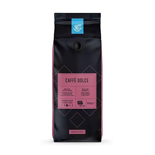 Amazon-Marke: Happy Belly Röstkaffee, ganze Bohnen'Caffè Dolce' (2 x 500g)