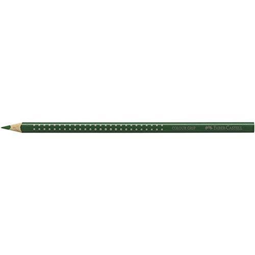 """Faber Castell 112467 Buntstift \""""Colour GRIP\"""", Permanentgrün-Olive"""