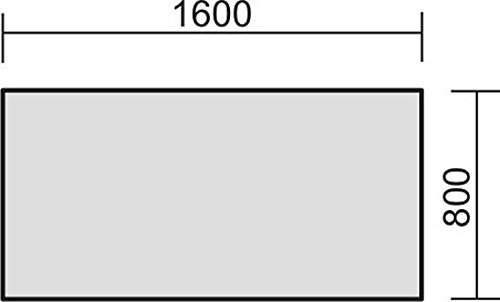 elektrisch höhenverstellbarer Schreibtisch 1600x800x680-1160, Dekor: wählbar - 2