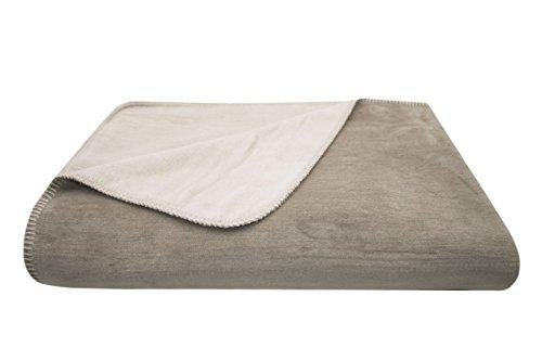 ZOLLNER Manta Grande para Cama y sofá, Beige-Gris, 150x200 cm