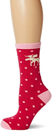 Little Blue House by Hatley Women's Moose & Polka Dots Crew Socks