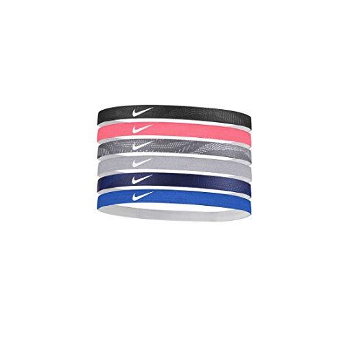 Nike Unisex- Erwachsene Headband Stirnband, Black/Ember Glow/Gunsmoke, One Size