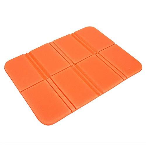 ENLI Tapis Pliable en Mousse pour siège de Camping - Imperméable - pour extérieur - pour Pique-Nique - pour Jardin, Plage 140 * 80 * 60mm Orange