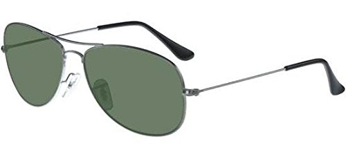 Ray Ban Für Mann Rb3362 Cockpit Gunmetal / Green Polarized Metallgestell Sonnenbrillen, 59mm