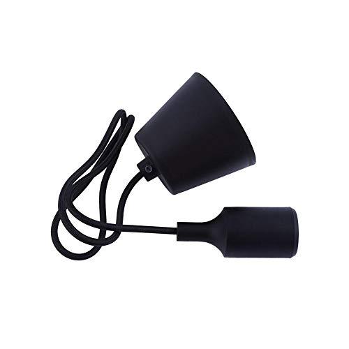 Bunte Glühbirne Halter Fashion Interior Home E27 Silikon Deckenleuchte Halter Pendelleuchte Lampenfassung für Haus, Gewerbe, Pub, Club dekorative Beleuchtung(Weiß) -