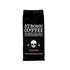 Strong Coffee to Wake the Dead – 500g Ground Coffee | Intense Body and Full Flavour | High Caffeine | Natural Strong Coffee
