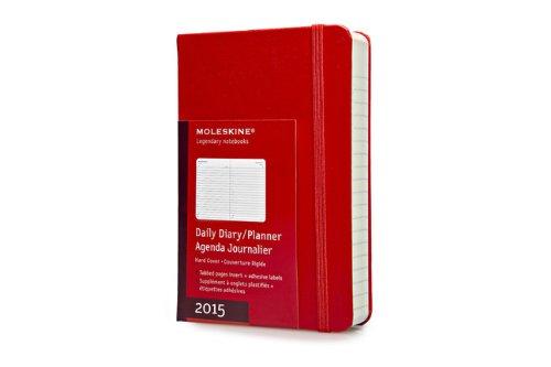 Moleskine Agenda Giornaliera 2015, Formato tascabile,  Rosso