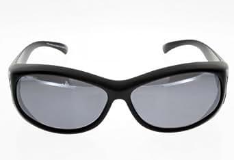 FIT OVER, sur-lunettes noires, taille M, polarisees Adulte Protection 100% UV 400 Indice 3