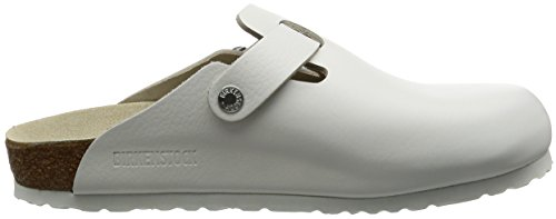 Birkenstock Boston - Sabot unisex - adulto Bianco (White Leather)