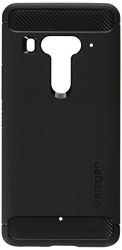 Spigen Rugged Armor HTC U12 Plus Hülle (H12CS23356) Karbon Erscheinungsbild Elastisch Stylisch Handyhülle Soft Flex TPU Silikon Schutzhülle Case [Schwarz]