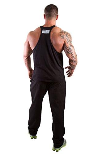 Gorilla Wear Classic Stringer Tank Top Fitness Gym Bodybuilding - Verschiedene Farben und Größen Schwarz