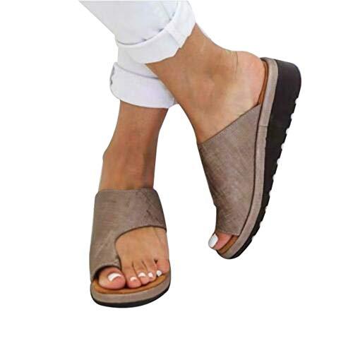 Coomir Scarpe da Donna comode con Plateau e Sandali da Viaggio per Spiaggia e Estate 38 Kaki