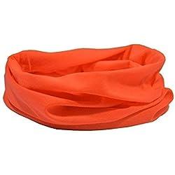 Calentador de cuello naranja neón - Ruffnek Sport Multi bufanda / snood para hombres, mujeres y niños - UNA TALLA