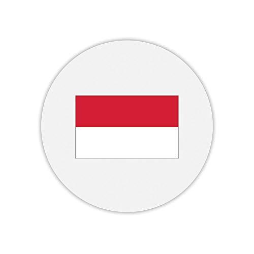 Mauspad, rund, indonesische Flagge -