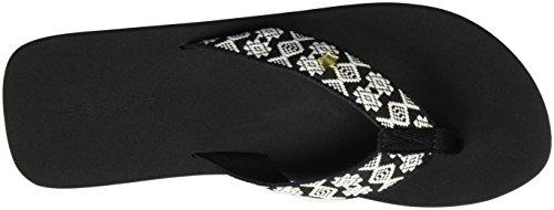ESPRIT Glitter Ethno, Ciabatte Donna Nero (001 Black)