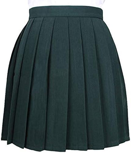 Mxssi Frauen Cosplay Faltenrock Mädchen Schuluniform Rock Solide Hohe Größe Rock Miniröcke
