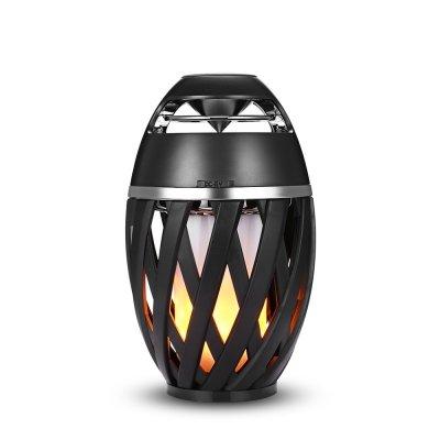 NEWBEN A1 Altavoz Bluetooth con LED Luz de la Llama,Altavoz Bluetooth Estéreo Premium Altavoz Inalámbrico Portátil con 20 Horas para IPhone y IPad,Color Nrgeo