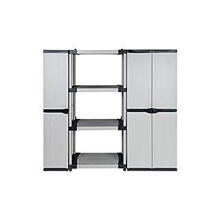 KREHER Set:Steckregal + NischenschrankArmadio + Universalschrank Armadio grau, schwarz