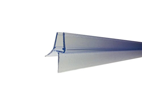 100 cm Duschtür Ersatzdichtung mit Dichtkeder für 6mm/ 7mm/ 8mm Glasdicke Wasserabweiser Duschdichtung Schwallschutz Duschkabine
