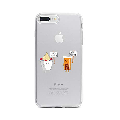 licaso iPhone 7 Plus IP7+ Handyhülle TPU mit PRO BIOTECS & Anti BIOTECS Print Motiv - Transparent Cover Schutz Hülle Aufdruck Lustig Funny Druck