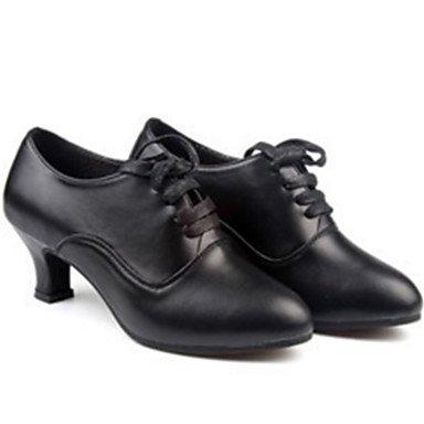 XIAMUO Anpassbare Damen Tanz Schuhe aus Leder Leder Sekt Sekt Glitter Glitter Latin Jazz Fersen angepasste HeelPractice Anfänger Rot