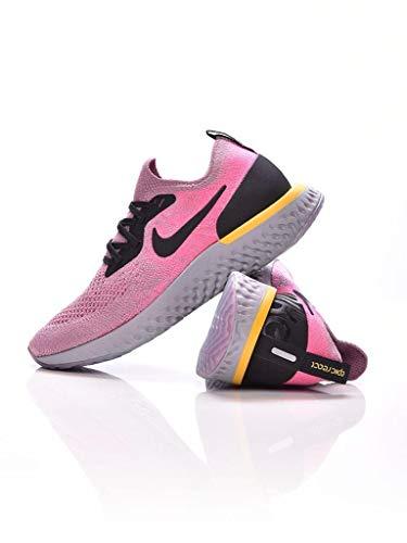 Nike Damen WMNS Epic React Flyknit Laufschuhe, Mehrfarbig (Gunsmoke/White/Black/Geode Teal 010), 38 EU (Teal Womens Tennis-schuhe)
