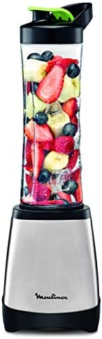 MOULINEX Personal Blender, Stainless Steel, 300w - LM1A0D27