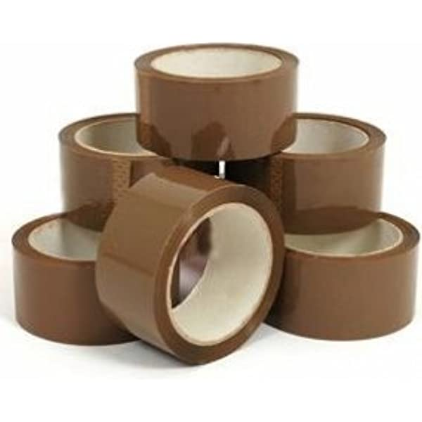 6 Rollen Braun Diamond Packaging/® Paketklebeband