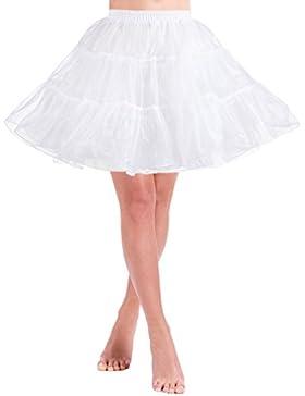 NUREINSS Petticoat Mujeres Cancan 50s Retro Rockabilly Enaguas Faldas