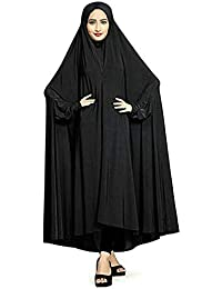 Womens-clothing Women's Plain Black Color Arabic Style Chaderi Burkha