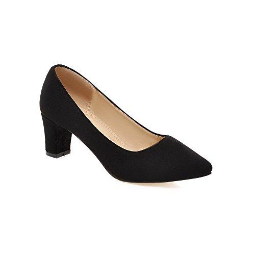Damen Mittler Rein auf Mattglasbirne Spitz Zehe Pumps Schuhe, Schwarz, 43 VogueZone009