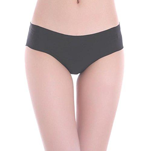 Vovotrade® Donne invisibile Underwear Perizoma Cotton Spandex Gas Seamless Crotch Nero