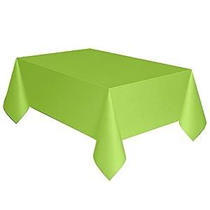 Mantel de Plástico - 2,74 m x 1,37 m -Verde Neón