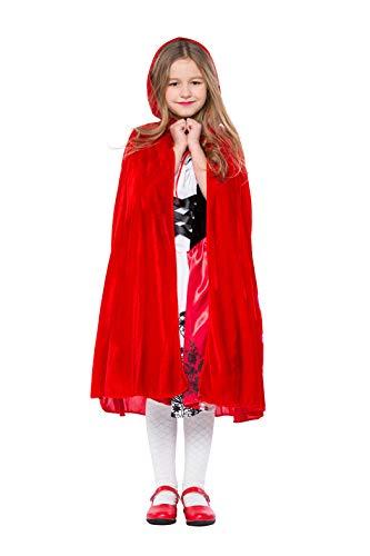 VENI MASEE Kid's Rotkäppchen Halloween Cosplay Kostüm (Kid Zu Sehen Halloween-filme)