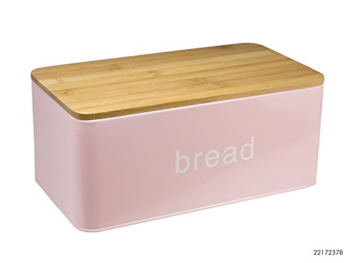 Brotkasten Brotbox Metall Bambus Brotbehälter mit Deckel Bambusdeckel Brot Aufbewahrung Box Kiste Modell 4