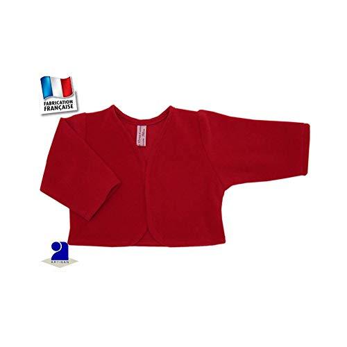 Poussin bleu - Boléro-Gilet court enfant, polaire uni Couleur - Rouge,  Taille bb31bd74acdc