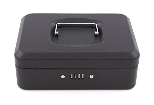 acropaq-ts0027fmbk-coffret-a-monnaie-avec-serrure-a-combinaison-250-x-180-x-90-mm-noir-mat